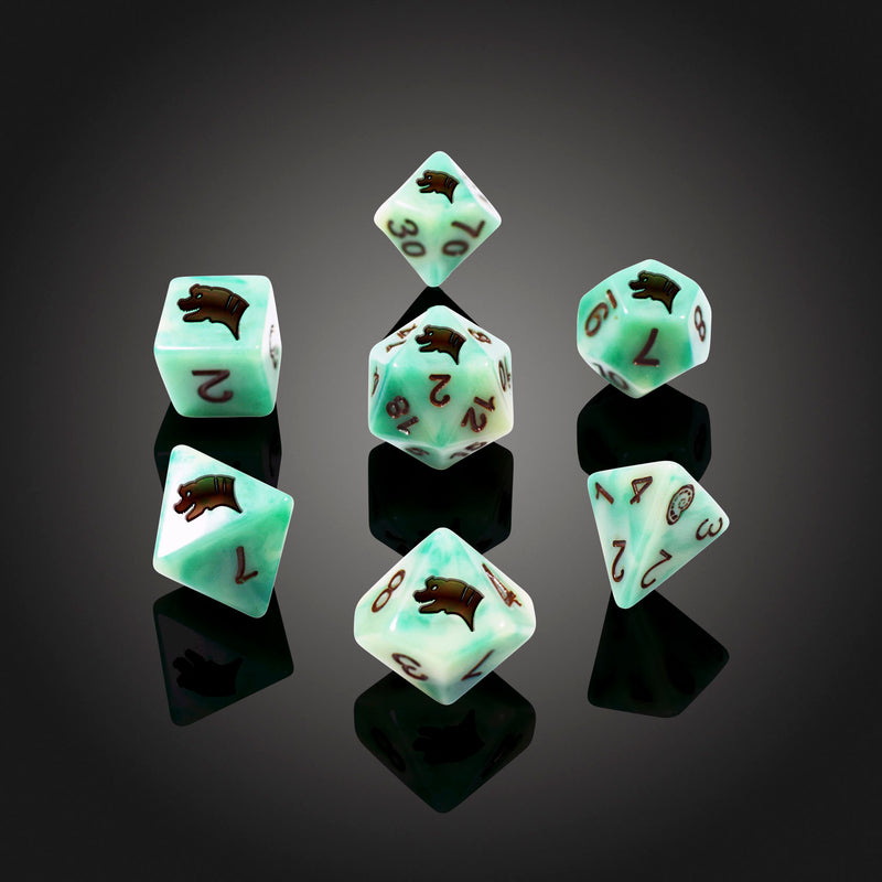 Dice RPG Set of 7 'Spirit Of' Brachiosurus