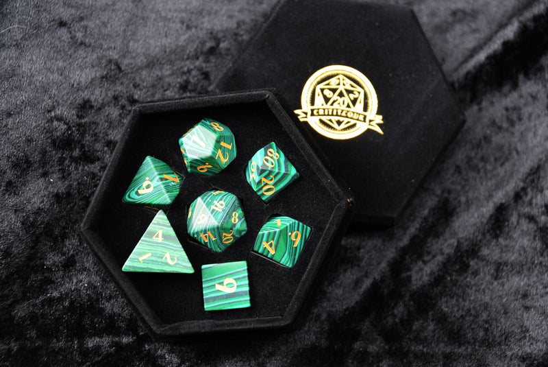 Malachite Gemstone Dice