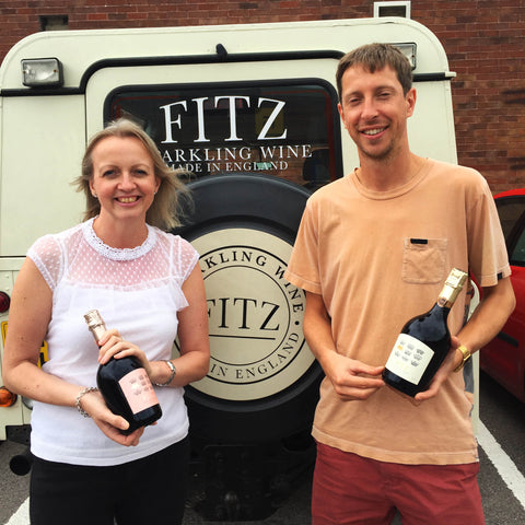Image of Gareth (Fitz UK) and Julia (Just Perfect Wine) before social distancing!