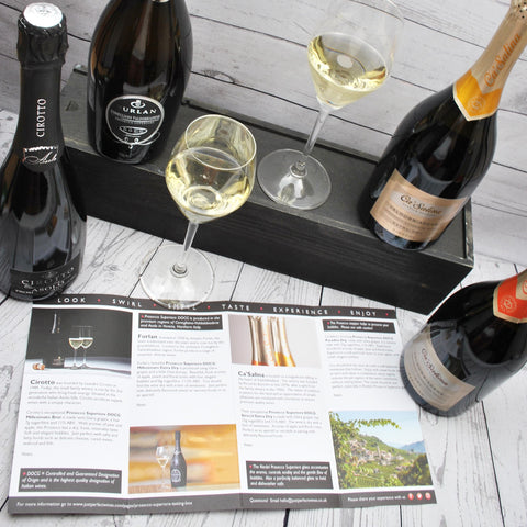 A Prosecco tasting event at home