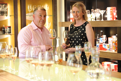 Steve McGraw, MD at Riedel UK and Julia Phillips, Owner of Just Perfect Wines
