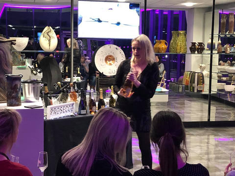 Julia Phillips hosting a Prosecco Tasting event at LoveClay, Staffordshire
