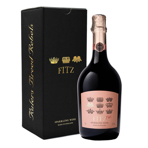 Fitz Pink Sparkling English Wine Gift Boxed perfect Mother's Day present