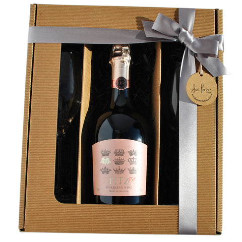 Fitz Pink Sparkling English Wine Gift Set