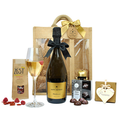 Happy Birthday Prosecco Treat Bag (Large)