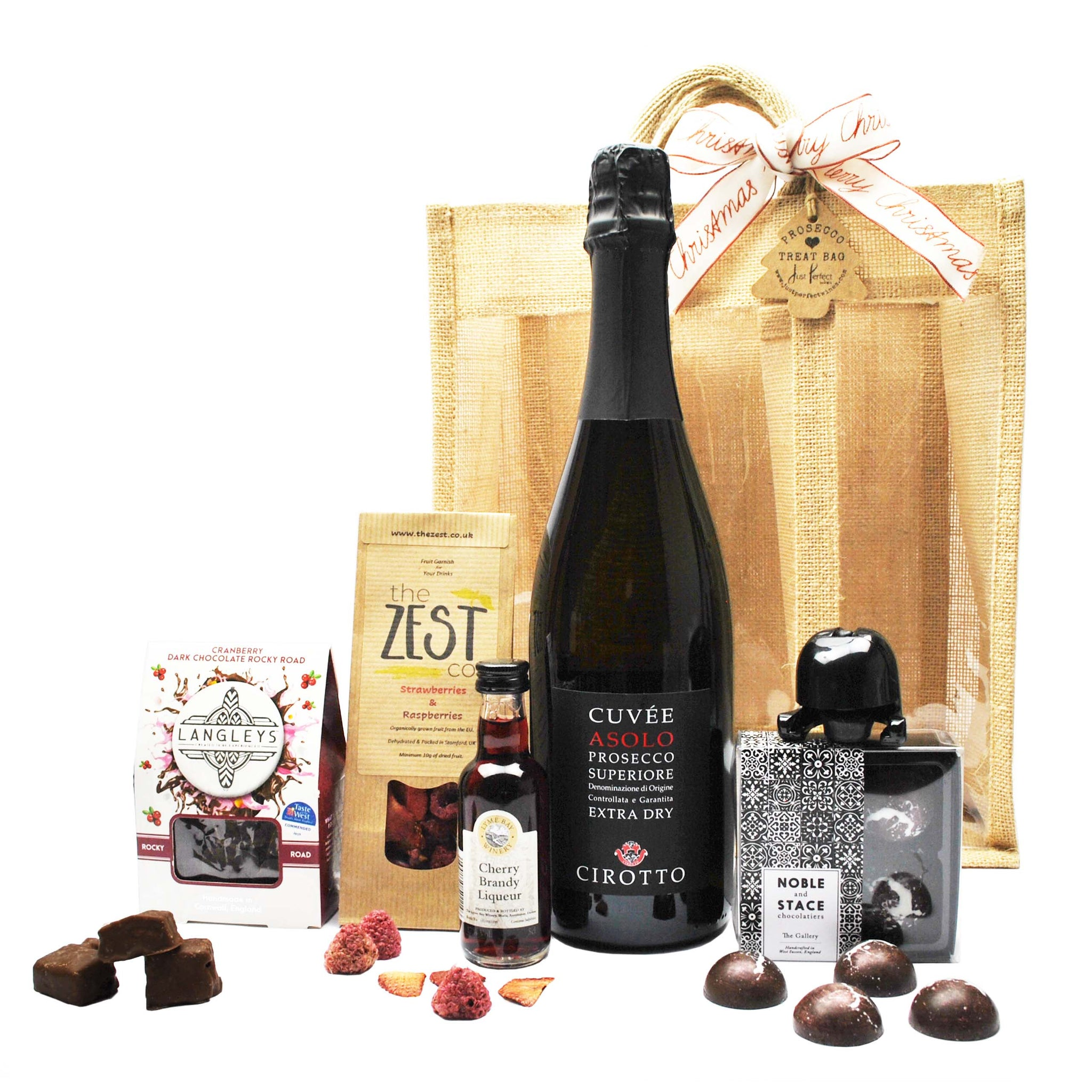 Prosecco and Chocolate Hamper Treat Bag