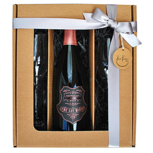 Lyme Bay Sparkling Rosé English Sparkling Wine Gift Set