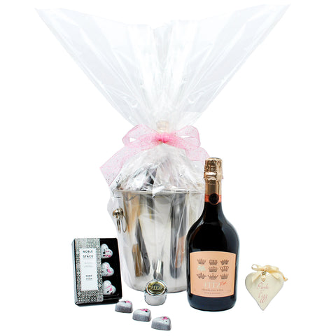 Fitz Pink Ice Bucket Hamper Gift Set