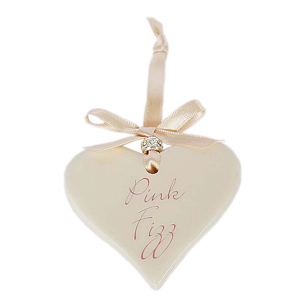 Pink Fizz Ceramic Hanging Heart