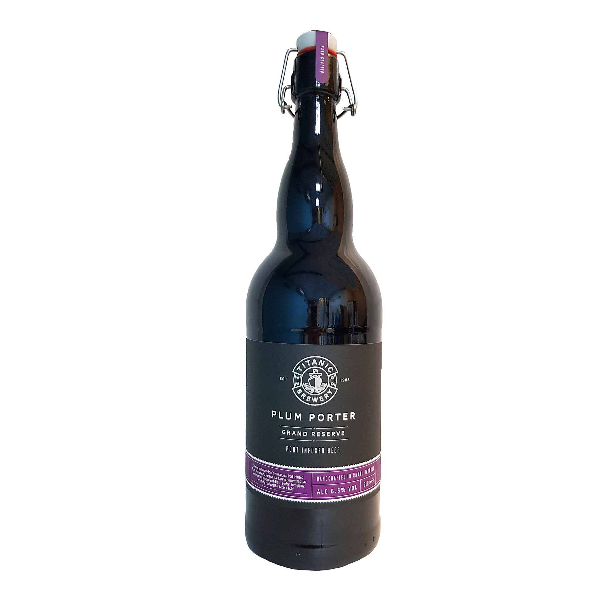 Titanic Brewery Plum Porter Grand Reserve Port Infused Beer 2 Litre Bottle