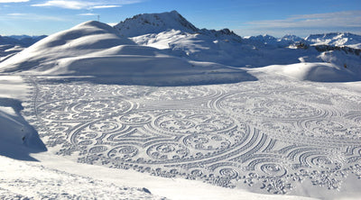 This Artist Uses Snowshoes to Carve Massive, Ephemeral Artworks into the Snow