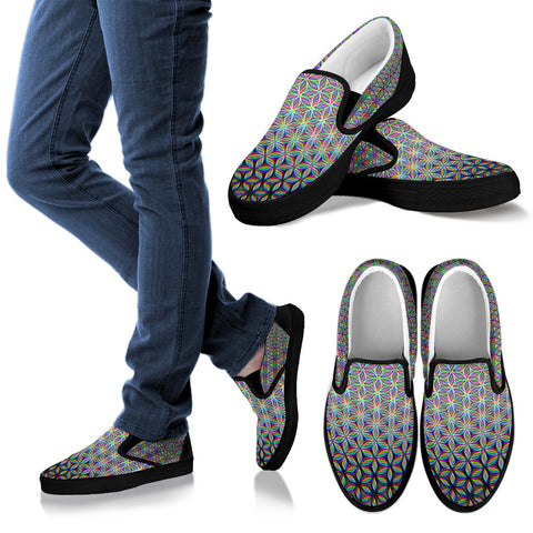 Flower of Life Women's Slip Ons by PatternNerd