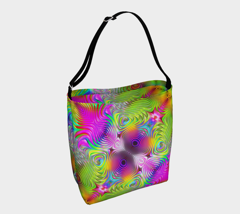 Unique Colorful Day Tote by ROBERT HRUSKA