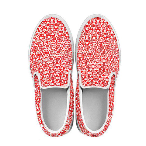 Red Inverse Women's Slip Ons