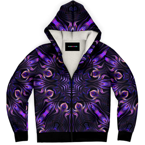 Purple Magic Zip-Up Hoodie by ROBERT HRUSKA