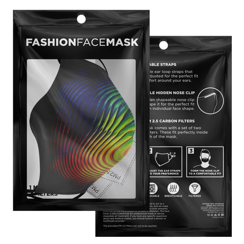 Image of COLOR SWIRL Face Mask by ROBERT HRUSKA
