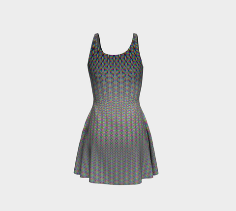 Flower of Life Flare Dress by PatternNerd