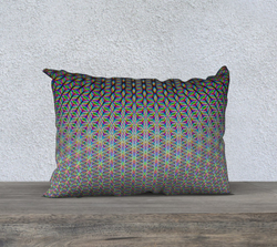 Flower of Life 20x14 Pillow Case by PatternNerd