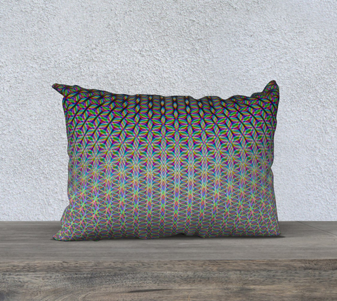 Image of Flower of Life 20x14 Pillow Case by PatternNerd