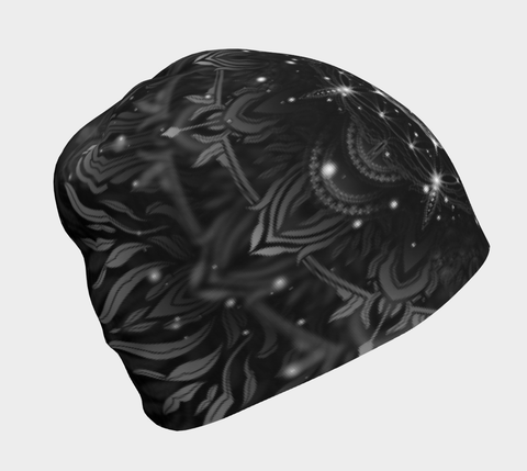Image of BLACK GEOMETRIC BEANIE | YANTRART