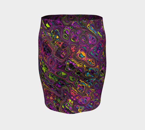 Image of COLOR BLAST FITTED SKIRT | HUBERT S