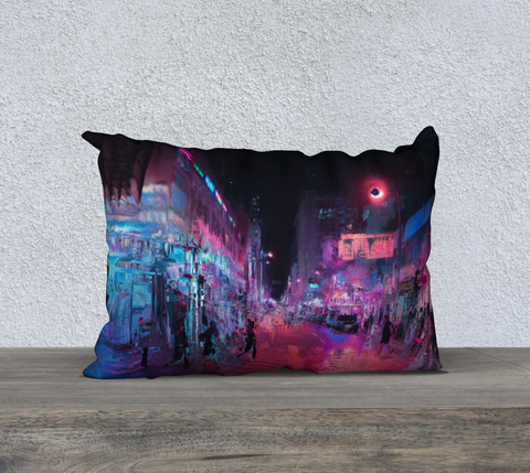 Image of magenta city 20 x 14 pillow case