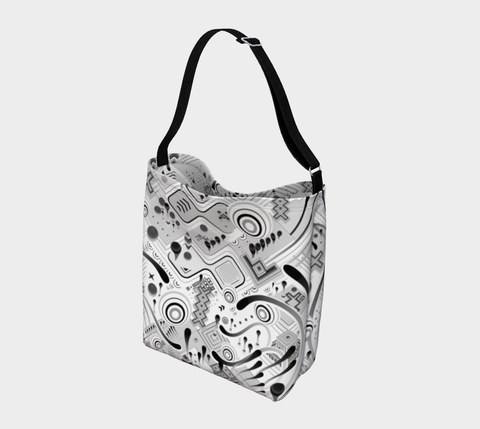 Image of WHITE STEPS DAY TOTE | TAS