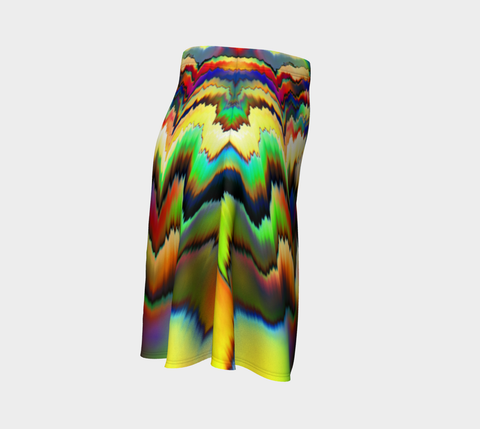 Image of Falling Colors Flare Skirt by ROBERT HRUSKA