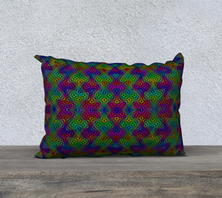 Colorful Interactions 20x14 Pillow Case | PatternNerd