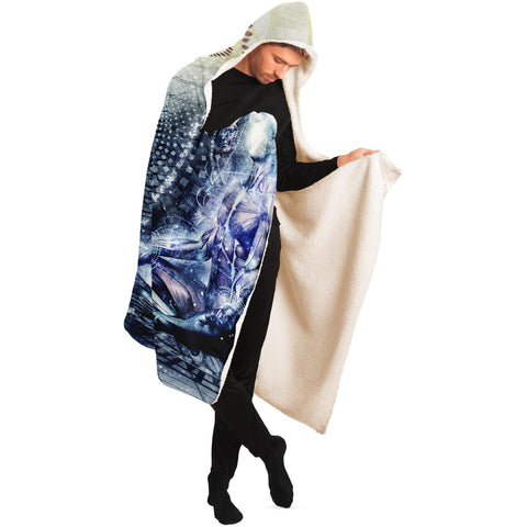 AWAKE COULD BE BEAUTIFUL HOODED BLANKET by CAMERON GRAY