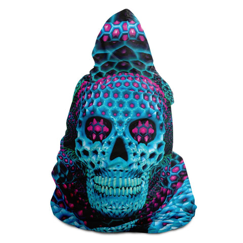 CYAN SKULL HOODED BLANKET | PSYPEPPER