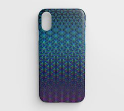 Blue & Pink Flower of Life by PatternNerd