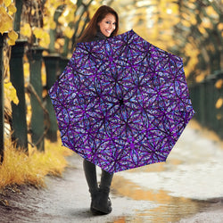 Flower of Life Dark Purple Mix Umbrella by PatternNerd
