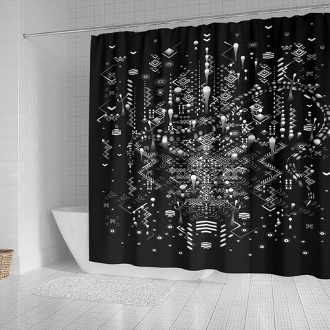MYSTIC MOVE BLACK SHOWER CURTAIN | TAS