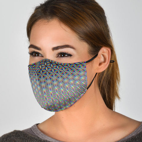 Flower of Life Women's Face Mask by PatternNerd