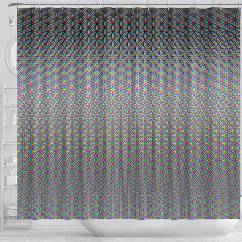 Flower of Life Shower Curtain by PatternNerd