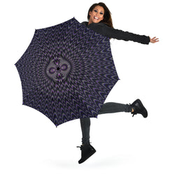 Purple/Blue Ferro Umbrella by PatternNerd