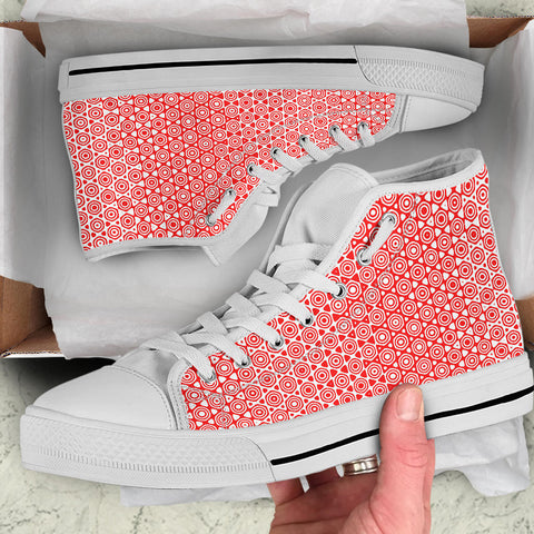 Red High Top Shoe