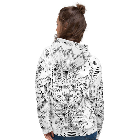 Image of MYSTIC MOVE WHITE Unisex Hoodie