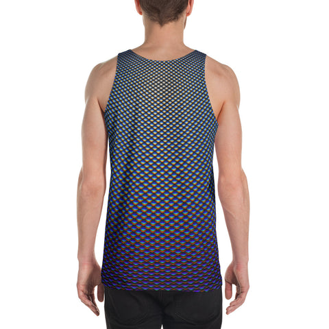 Blue Bubble Scales Unisex Tank Top by PatternNerd