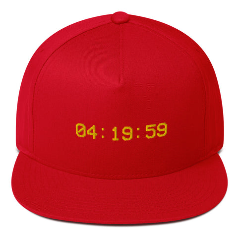 100% Cotton Flat Bill Cap 4:19