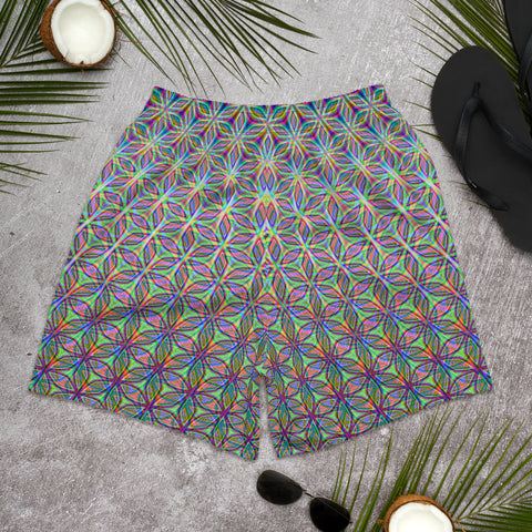 FLOWER OF LIFE Men's Athletic Long Shorts