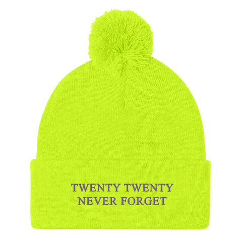 Image of 2020 NEVER FORGET Pom-Pom Beanie