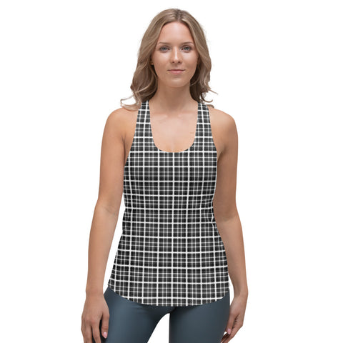 Hermann Grid Illusion Women's Racerback Tank by PatternNerd