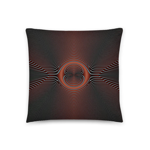 Image of Rust & Cyan Refraction Basic Pillow by PatternNerd