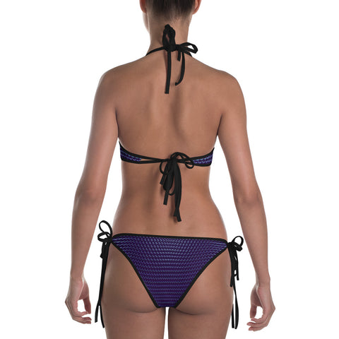 Dark Purple Dotted Bikini by PatternNerd