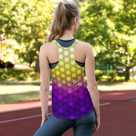 Bright Burst Women's Racerback Tank by PatternNerd