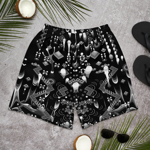 Image of TAS | MYSTIC MOVE BLACK Men's Athletic Long Shorts