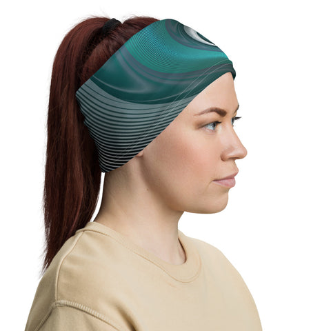 Spiral Wave Neck Gaiter by PatternNerd