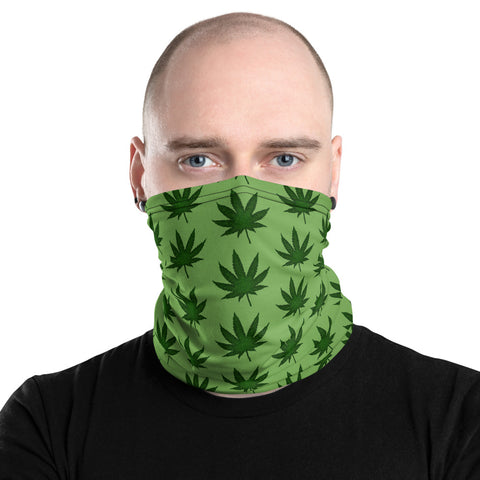 Marijuana Neck Gaiter by PatternNerd